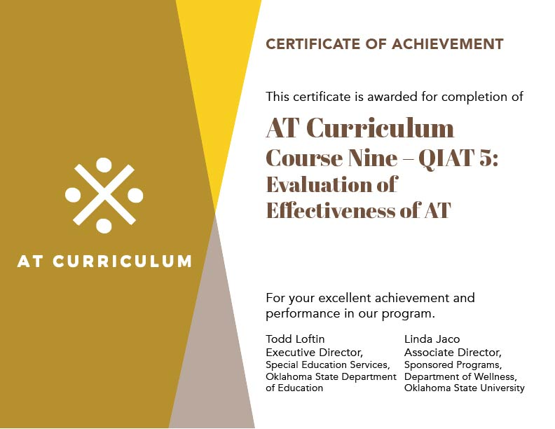 Course #9 – Your Certificate